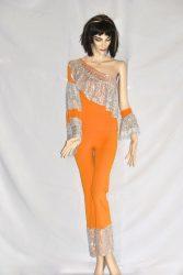 Abba ruha narancssárga félvállas gyerek méret