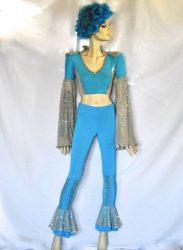 Abba ruha kék kétrészes