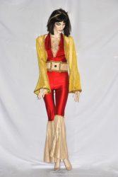 Abba ruha piros-arany