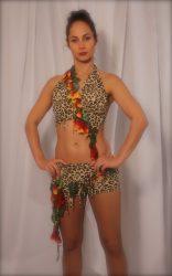 Tarzan női ruha állatmintás