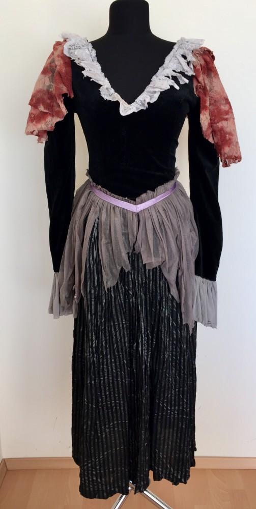 fekete-szürke zombi jelmez - Broadway egyedi ruha és jelmezkölcsönzés f25e835a45